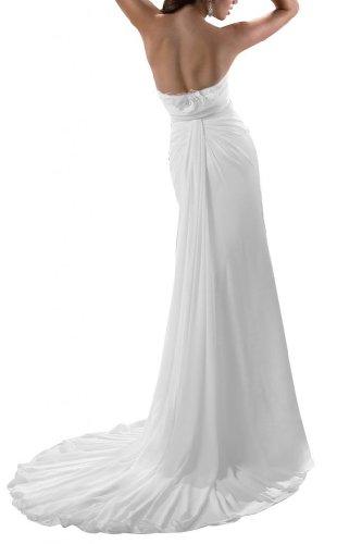 Ange Gaine Chérie Mariée Robes De Mariée Longues Robes En Mousseline De Soie Blanche