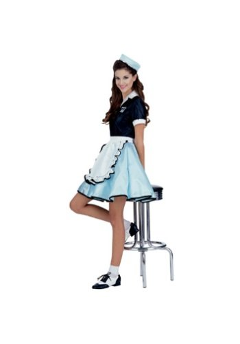 Adult Car Hop Girl 50s Costume, One Size