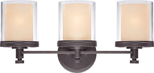 (Bathroom Vanity 3 Light with Sudbury Bronze Finish Iron Medium Base 22 inch 300 Watts)