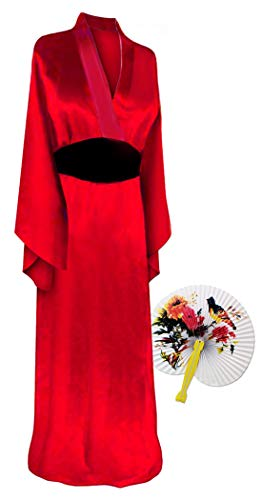 Solid Red Geisha Plus Size Supersize Halloween Costume Basic Kit -