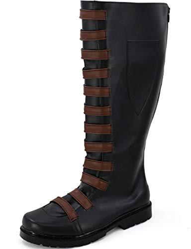 GOTEDDY Domino Cosplay Boots Halloween Black Shoes for Women - 8.5 B(M) US -