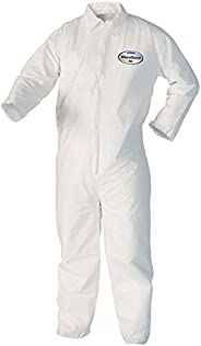 Kleenguard A40 Liquid & Particle Protection Coveralls (37686), Zip Front, Open Wrists & Ankles, W