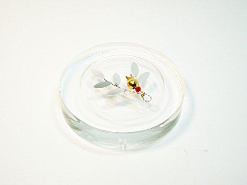 Handmade sterling silver 925 paperweight in plexiglass