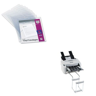 KITAVE74804PREP7200 - Value Kit - Avery Top-Load Clear Vinyl Envelopes w/Thumb Notch (AVE74804) and Martin Yale Model P7200 RapidFold Light-Duty Desktop AutoFolder (PREP7200)