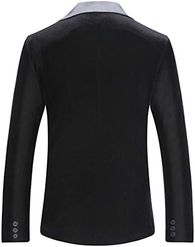 Jza127 Longues Blazer Jeansian black Homme Manches I48nnUqEW