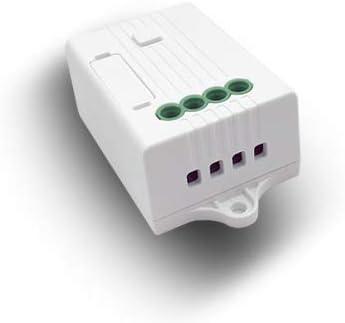 Alexa Echo Google Home - Interruptor de control de voz sin necesidad de batería, mando a distancia inalámbrico para bombilla halógena y ventilador de techo