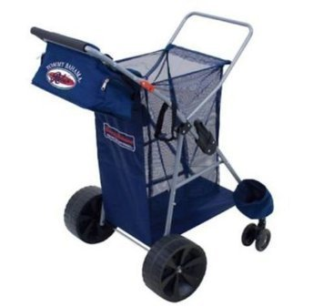 Wide Wheels Extra (Tommy Bahama All Terrain Beach Cart Includes Cargo Bag With Extra Wide Rear Wheels)