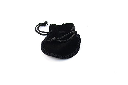 "Regal Pak ® Small Black Velvet Drawstring Teardrop Pouch 2"" X 2"" (12 pieces/one dozen)"
