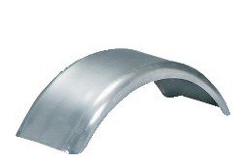 CE Smith Trailer Fender - 27 3/8in. Long Paintable Galvanized Flat-Top Round (Galvanized Fender)