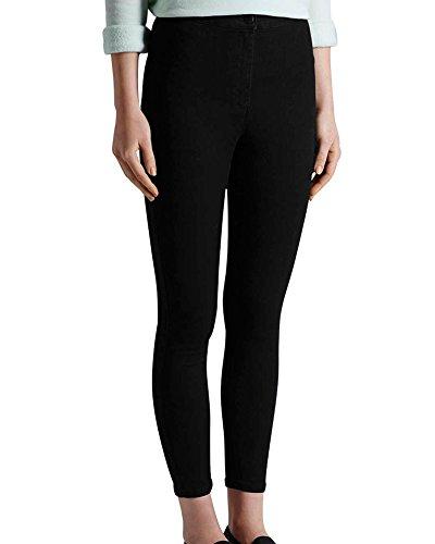 Lunghi Primavera Alta Denim Jeans Matita Skinny A Pantaloni Vita Elastico Minetom Nero Pantalone Donna vYxZ66