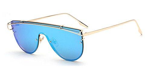 Lunettes Bleu et de Élégant Hommes KINDOYO Or de Oversized soleil Femmes Square Vintage soleil Lunettes nqRvw4w6