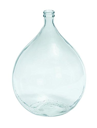 Deco 79 Glass Vase, 22 by 15-Inch - 22 inch product Suitable to be use as decorative items This product is manufactured in Spain - vases, kitchen-dining-room-decor, kitchen-dining-room - 312PbZXlUiL -