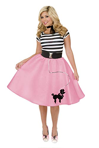 Charades Women's Poodle Skirt, Pink, Medium ()