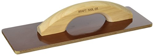 Laminated Wood Handle (Kraft Tool CF530 Square End Laminated Canvas Float with Wood Handle, 14 x 5-Inch)
