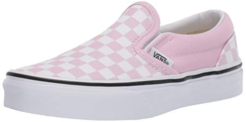 Vans Kids' Classic Slip-On-K (5 M US Big Kid, (Checkerboard) Lilac Snow/True White)]()