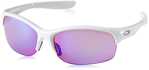 Oakley Women's Commit Squared Non-Polarized Iridium Cateye Sunglasses, POLISHED WHITE, 62.01 mm (Oakleys Womens Sunglasses)