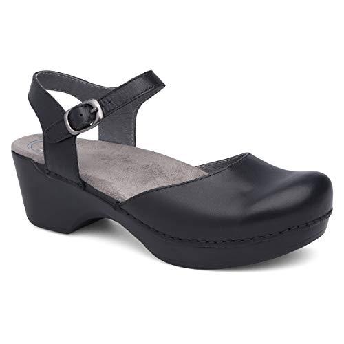 Dansko Women's Sam Black Sandal 8.5-9 M US (Dansko Clogs Narrow)