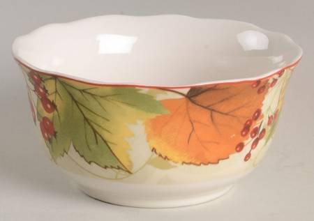 222 Fifth Autumn Harvest Festival Soup or Cereal Bowls Set of 4