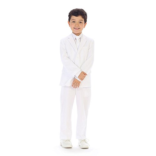 Bodice Vest (Angels Garment Big Boys White Slim Fit Jacket Pants Vest Shirt Tie Suit 14)