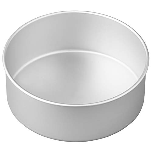 - Wilton Aluminum Round Cake Pan, 8 x 3-Inch