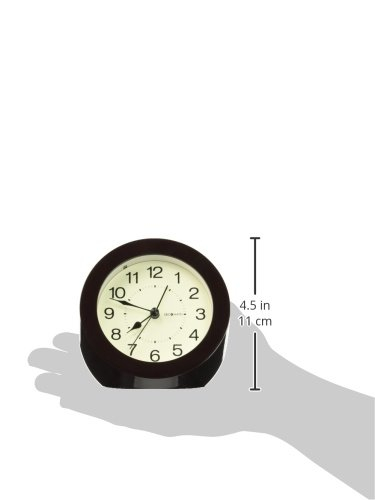 DecoMates Non-Ticking Silent Wall and Desk Alarm Clock, Small, Timeless, Brown - Non-ticking, silent clock Design is simple yet modern and stylish Transforms into a desk clock or a wall clock - clocks, bedroom-decor, bedroom - 312PkXP0ecL -