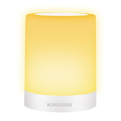 KMASHI Table Lamp, LED Bedside Lamp Dimmable Wa...