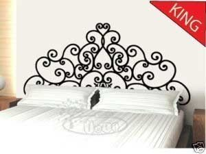King Size Flower Vine Plant Headboard Wall Decal Bed Room Home Wall Stcker  Decals Decor Bedroom