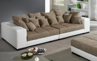 Iwaniccy Big Sofa Luna 300 Ergis Weißmagma Braun Amazonde Küche