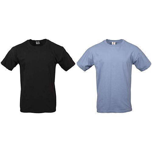 Comfort Colors Men's Adult Short Sleeve Tee, Style 1717,  Medium,black/washed denim ()
