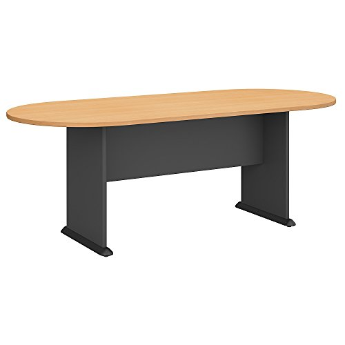 Conference Table Office Table - Bush Business Furniture Series A & C 82W x 35D Racetrack Oval Conference Table in Beech