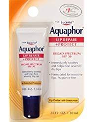Aquaphor Lip Repair + Protect, Broad Spectrum SPF 30 0.35 oz (Pack of 10)