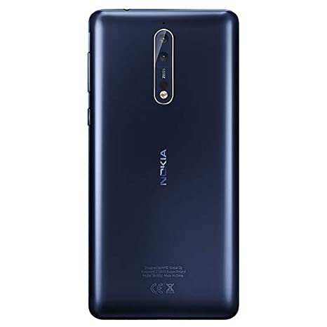 Nokia 8 TA-1004 64GB/4GB Dual Sim Steel (Silver) - Factory Unlocked Global Version - GSM ONLY, NO CDMA - NO Warranty in The US