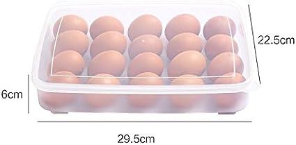 20 Eggs SPARIK ENJOY Eggs Dispenser Covered Egg Holder for 20 Eggs