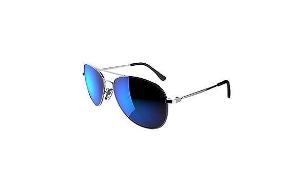 Decathlon Caminar lentes de las gafas de sol Deportes para Adultos Parkside plata y azul polarizados: Amazon.es: Deportes y aire libre