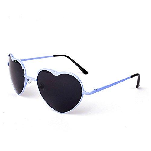 HaiBote Love Heart Womens Metal Frame - Australia Heart Sunglasses Love