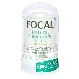 Focal Pure Alum NATURAL Deodorant Stone Aftershave Stick, 48 Hr. Protection,Hypoallergenic, Non Sticky, 60 g.