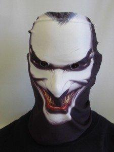 Disfraz de Halloween de la novedad divertida máscara de tela con bufanda braga para el cuello