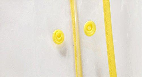 Raincoat Transparent Adulte Créatif Jaune Imperméable Personnalité Le couleur Jaune Mode rwqI1r