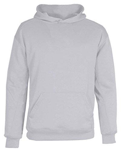- Badger Youth BT5 Performance Fleece Hooded Sweat. (2454) - Silver BD2454 L