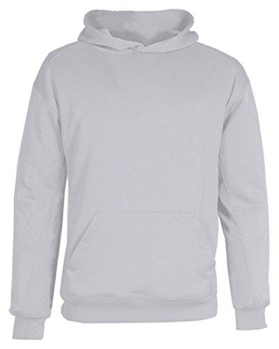 (Badger Sport Youth BT5 Performance Hooded Sweatshirt - 2454 - Silver - Medium )