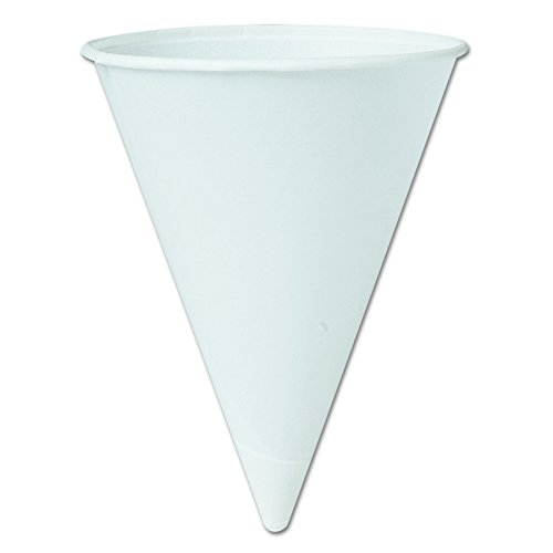 Bakery Equipment - Solo 42BR-2050 4.25 oz White Paper Cone Cups (Case of 5000)