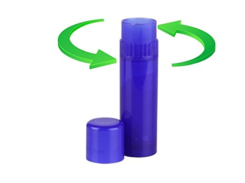Nakpunar 100 pcs Cobalt Blue Empty Lip Balm Tubes - FDA Approved, BPA Free, MADE IN USA