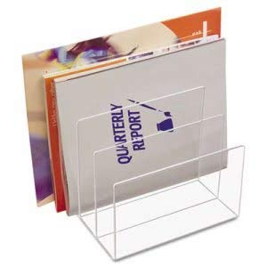 - Kantek Inc Clear Acrylic Desk File, Three Sections, 8 x 6 1/2 x 7 1/2,Clear