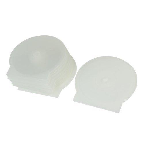 Water & Wood 10 Pcs Round Design Cases Plastic Clear White 4.8'' Diameter DVD CD Box Holder