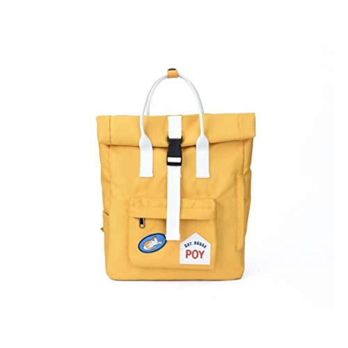 Zaino dimensioni universitario colore Qxjpz per Rosso donna Viaggio selvaggio Campus 28x14x39cm Borsa giallo per liceo dvI7Iq