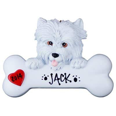 Westie Personalized Ornament - (Unique Christmas Tree Ornament - Classic Decor for A Holiday Party - Custom Decorations for Family Kids Baby Military Sports Or Pets) (Westie Ornaments)