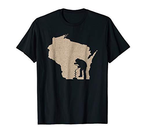 Vintage Ice Fishing Shirt - Wisconsin Ice Fishing tshirts