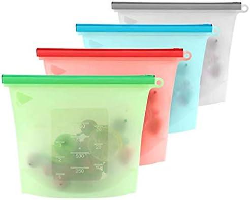 Conservación de Alimentos de silicona reutilizables bolsa de ...