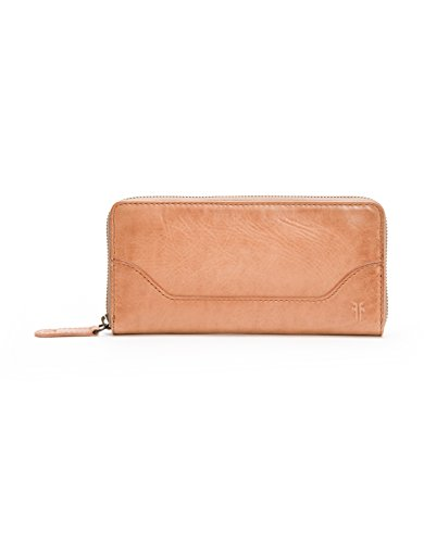 Melissa Zip Around Leather Wallet Wallet, Dusty Rose, One Size by FRYE