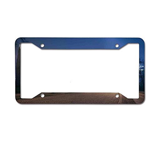 Cathedral Island - Custom Personalized License Plate Frame Aluminum Metal Car Tag Holder Black 2 Holes - Gothic Medieval Middle Age Churches Cathedral Island